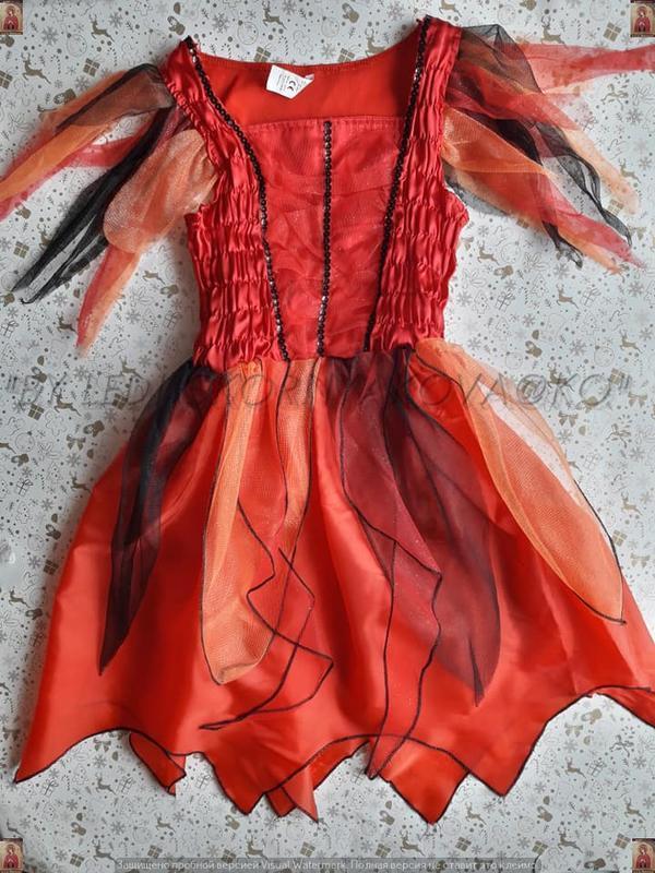 Новое нарядное карнавальное/праздничное платье с украшением на...