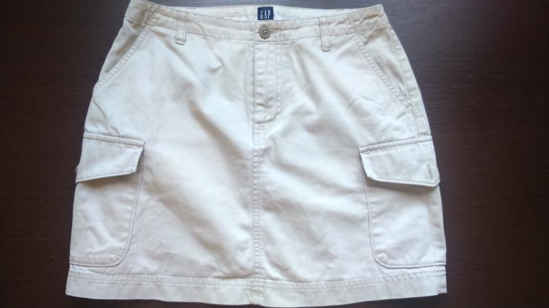 Плотная светлая юбка gap , одежда в стиле кэжуал - Фото 4