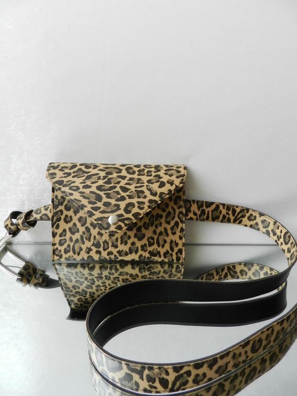 ⛔ ✅поясная сумка модный зверинный принт лео леопард без пояска