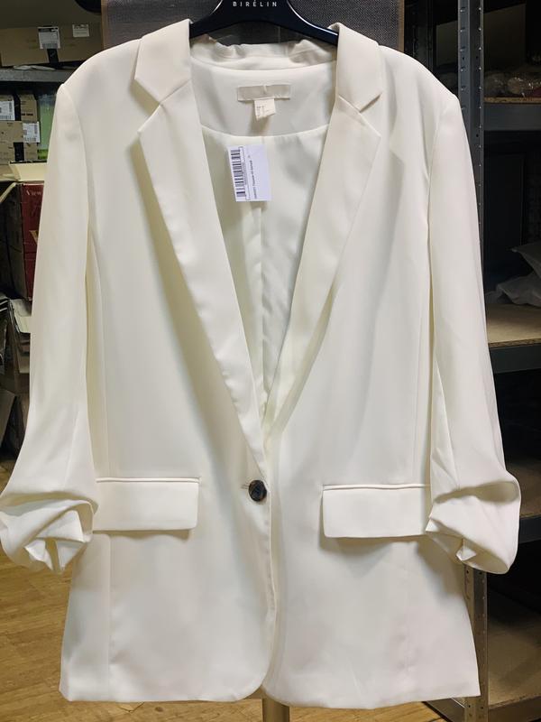 Пиджак белый h&m 40 размер