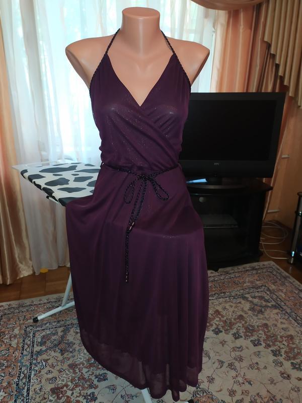 Шикарнейшее платье в цвете баклажан h&m