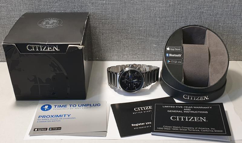Мужские часы citizen bz1001-86e eco-drive bluetooth 45мм 100м - Фото 2