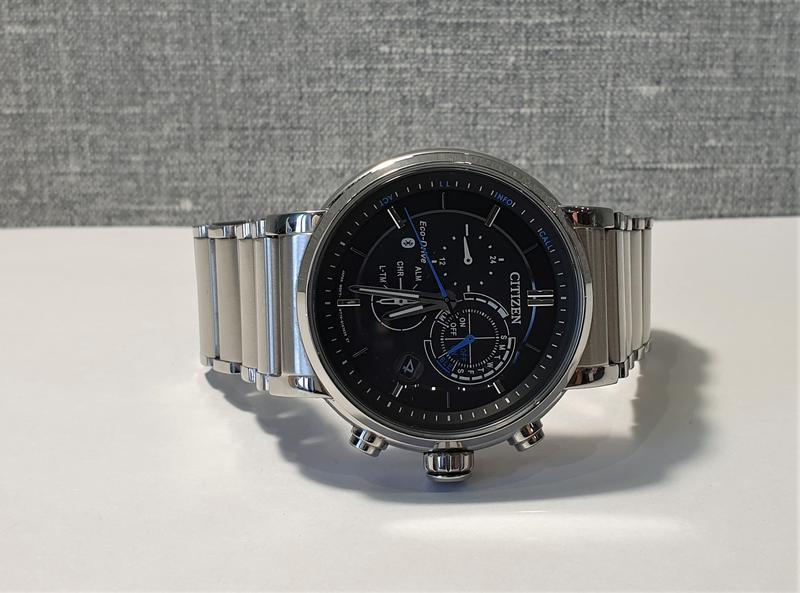 Мужские часы citizen bz1001-86e eco-drive bluetooth 45мм 100м - Фото 4