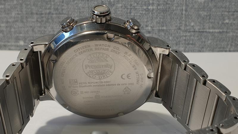 Мужские часы citizen bz1001-86e eco-drive bluetooth 45мм 100м - Фото 10