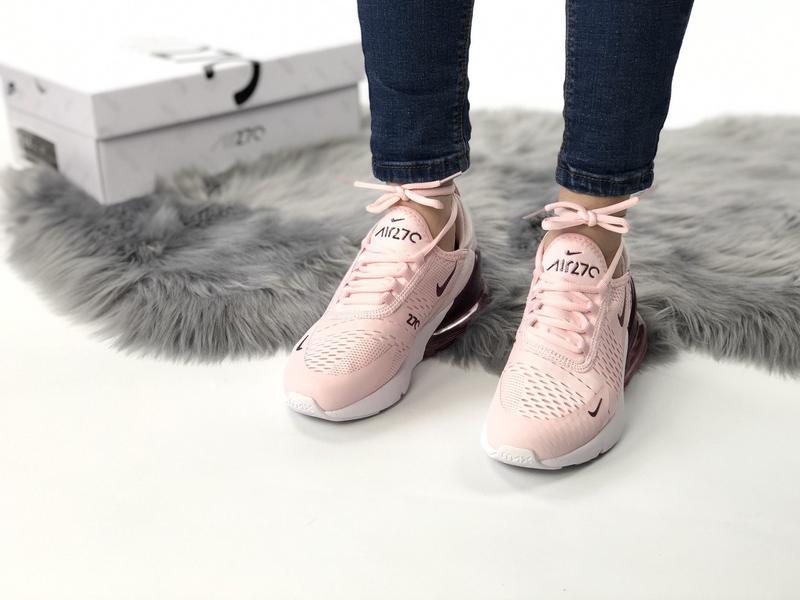 Nike air max 270 pink bordo, женские летние стильные кроссовки... - Фото 2