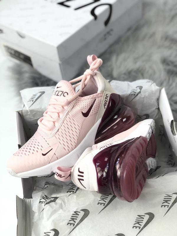 Nike air max 270 pink bordo, женские летние стильные кроссовки... - Фото 7