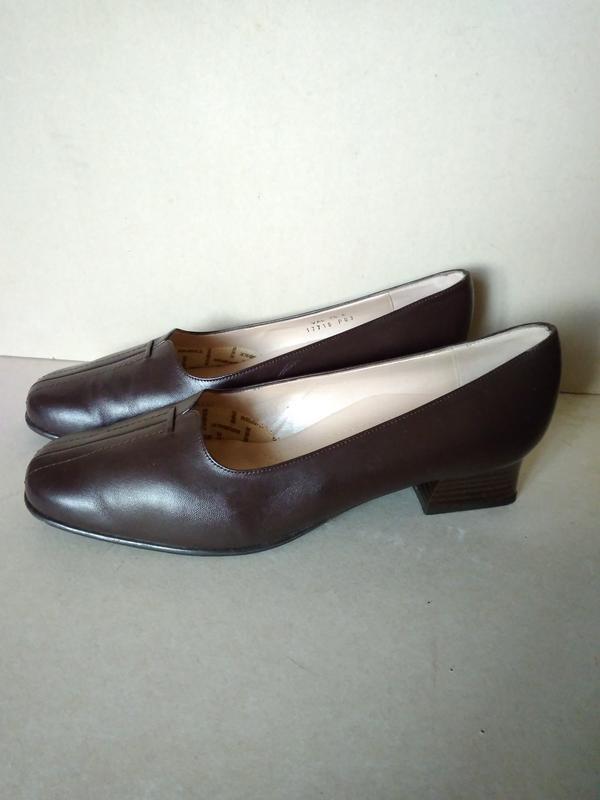 Удобные комфортные мягкие шоколадные кожаные туфли мешти р. 7 ...