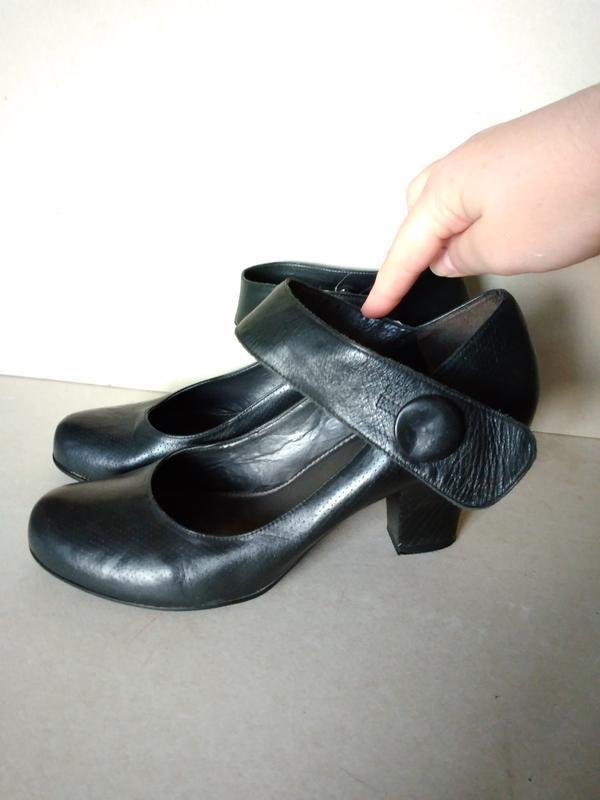 Лови момент! скидки! комфортные устойчивые кожаные черные туфл...