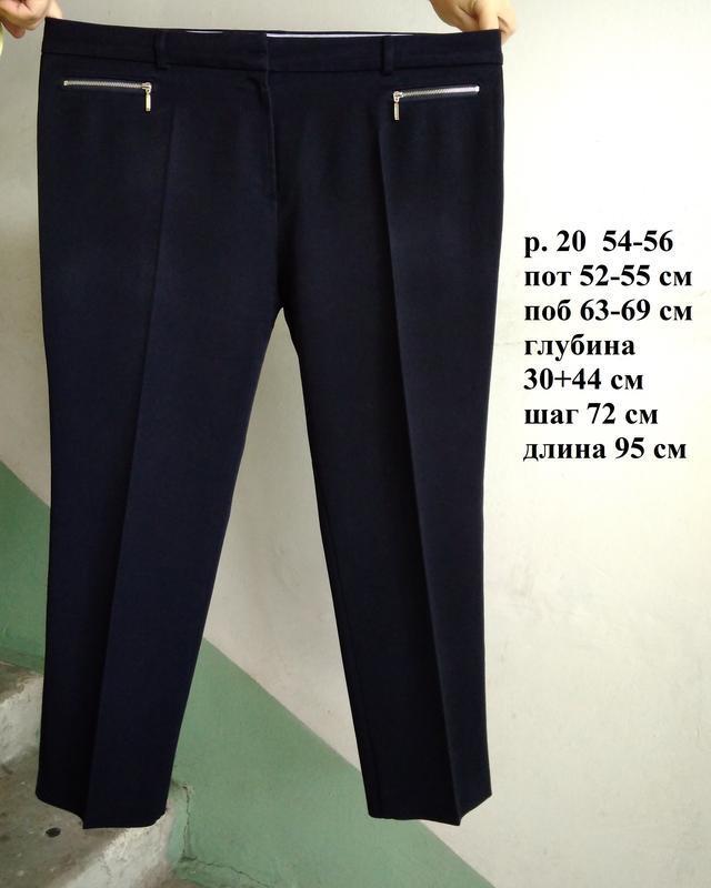 💫 стильные штаны брюки офисные классические синие стрейчевые у...