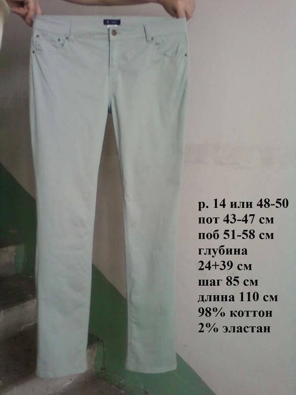🌹 джинсы штаны брюки оливковые стрейчевые прямые р 14 или 48-50