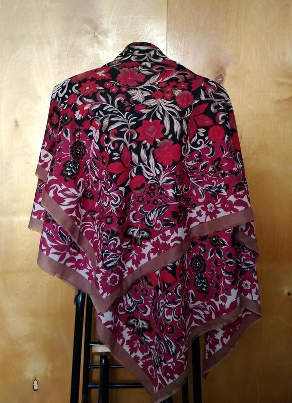🍒 прекрасный пестрый платок хустка шаль 116х118 см - Фото 2