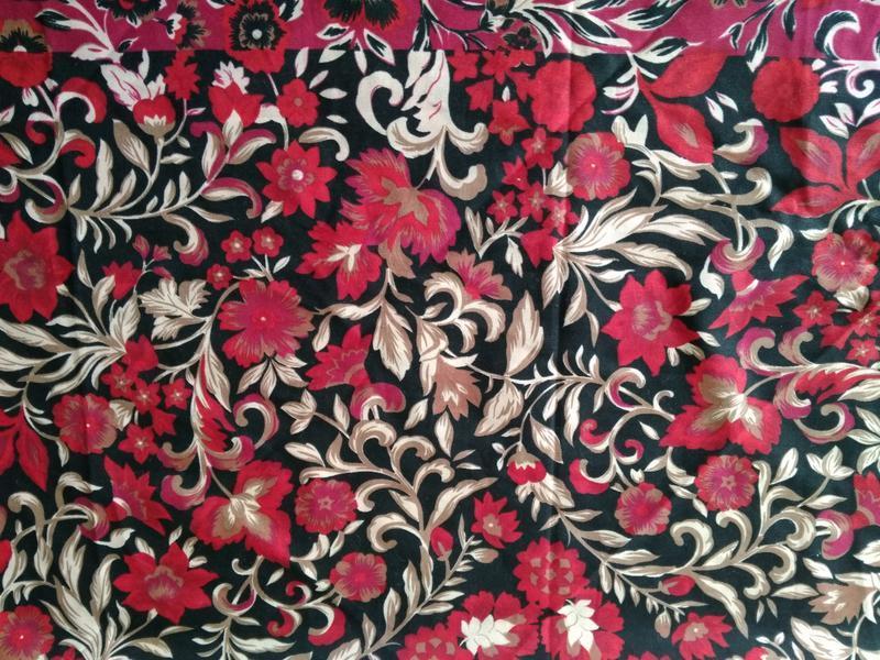 🍒 прекрасный пестрый платок хустка шаль 116х118 см - Фото 3