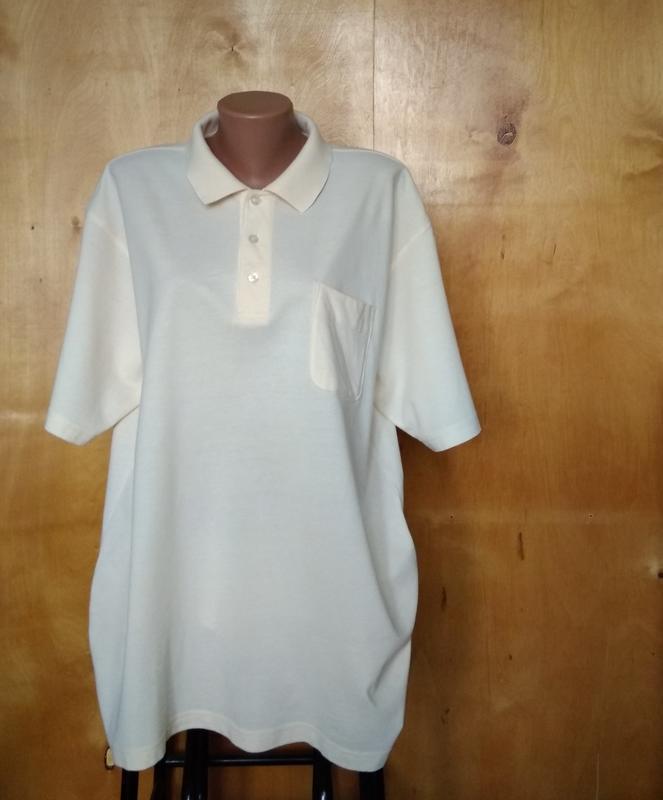 Р 20 / 54-56 стильная кофта футболка поло коттон ванильная