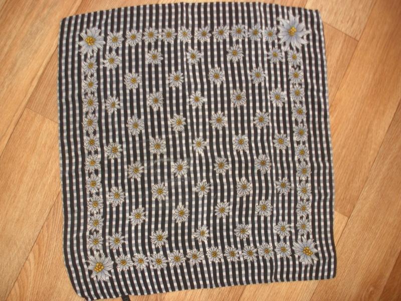 Стильный нежный легкий шелковый платок шаль хустка 100% шелк с...