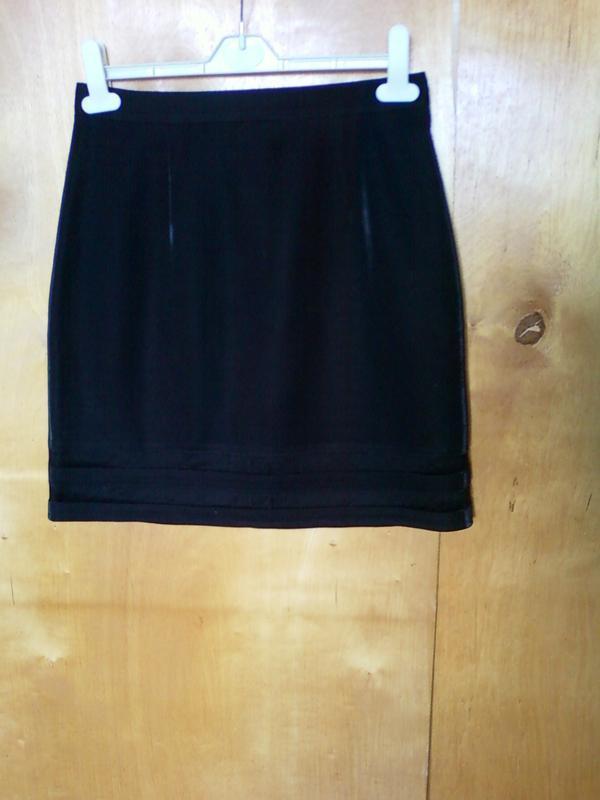Юбка юбочка спідниця мини прямая черная р 12 или 46-48
