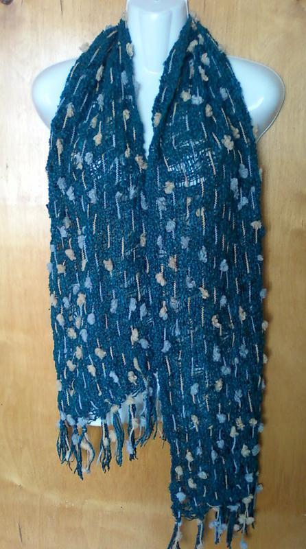 Шарф шарфик платок пончо шаль снуд хомут накидка бирюзовая.