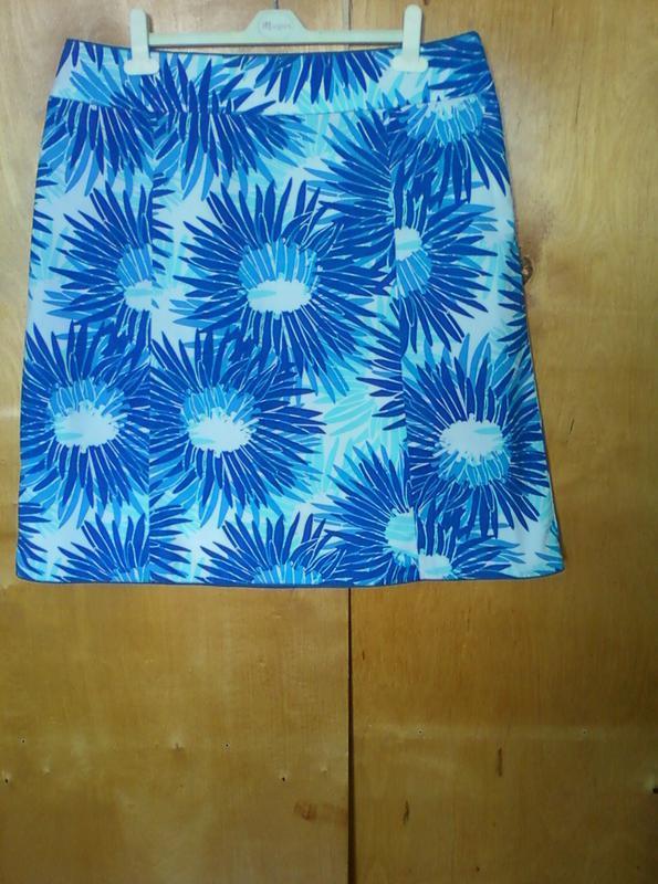 Юбка юбочка спідниця миди по колено синяя с принтом в цветочек...
