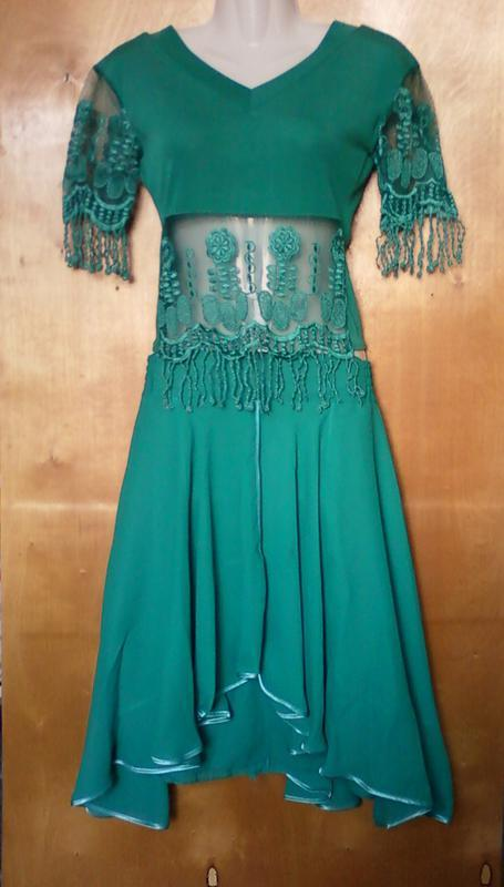 Костюм комплект кофта футболка и юбка зеленый р. 10 или 44-46