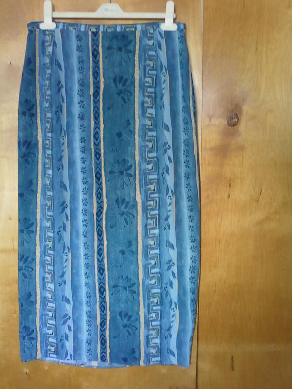 Юбка юбочка спідниця длинная прямая на двух пуговицахсиняя этн...