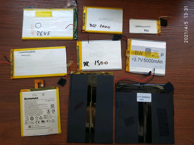 Аккумуляторы б/у планшет разные