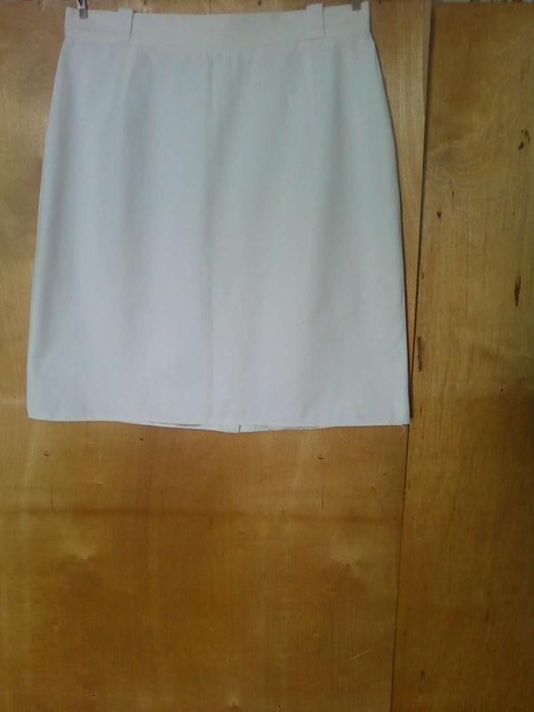 Юбка юбочка спідниця белая прямая до колена 100% коттон мини р...