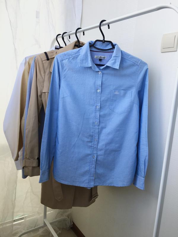 Хлопковая рубашка с рукавом, с нагрудным карманом hamption rep...