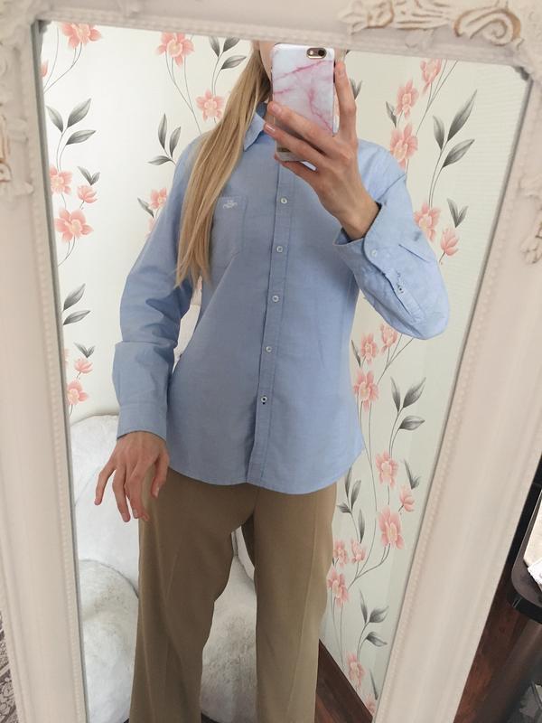 Хлопковая рубашка с рукавом, с нагрудным карманом hamption rep... - Фото 2