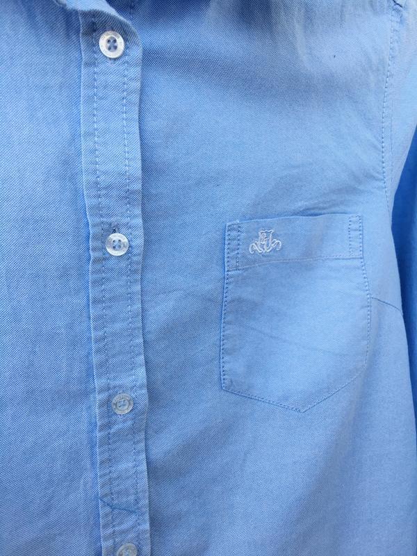 Хлопковая рубашка с рукавом, с нагрудным карманом hamption rep... - Фото 7
