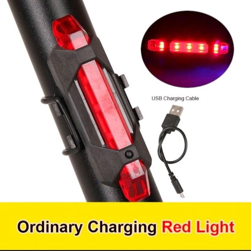 Задний фонарь, габарит для велосипеда Заряжается от USB