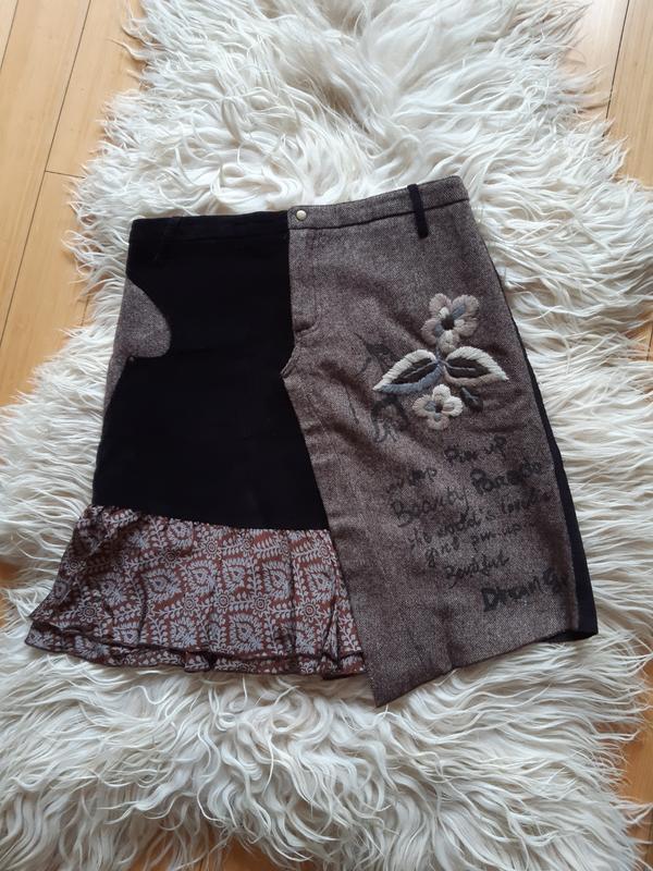 Классная тёплая юбка rene derhy (франция)