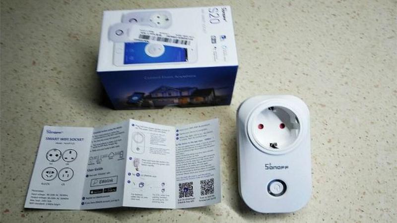 Умная Wi-Fi розетка SONOFF S20 с таймером и расписанием