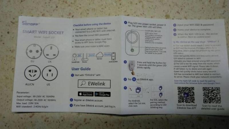 Умная Wi-Fi розетка SONOFF S20 с таймером и расписанием - Фото 2