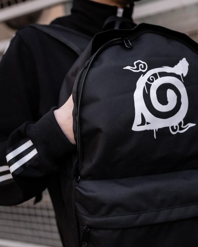 Рюкзак в стиле naruto kanoha черный женский / мужской наруто к... - Фото 2