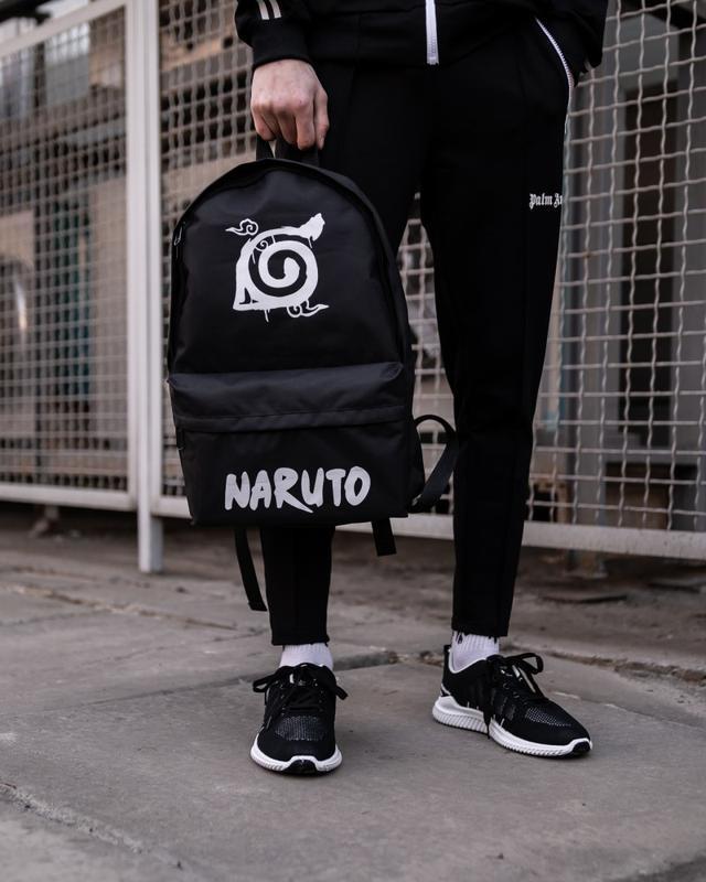 Рюкзак в стиле naruto kanoha черный женский / мужской наруто к... - Фото 6