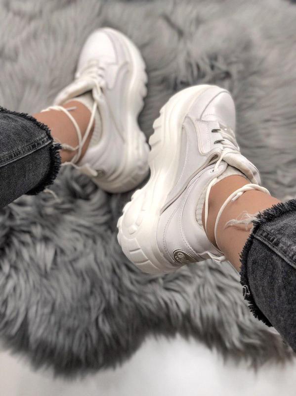 Шикарные женские кроссовки на платформе buffalo white  😍 (весн... - Фото 2