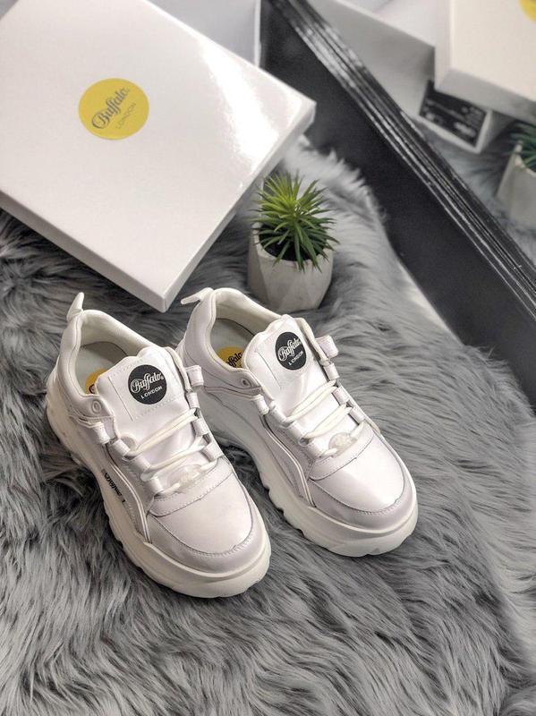 Шикарные женские кроссовки на платформе buffalo white  😍 (весн... - Фото 9