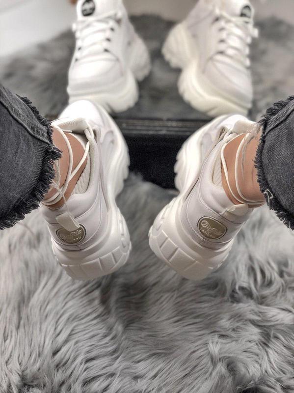 Шикарные женские кроссовки на платформе buffalo white  😍 (весн... - Фото 10