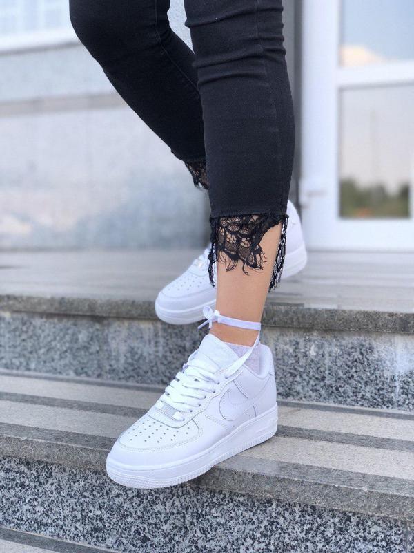 Шикарные женские кроссовки nike air force 1 low white 😍 (весна... - Фото 2