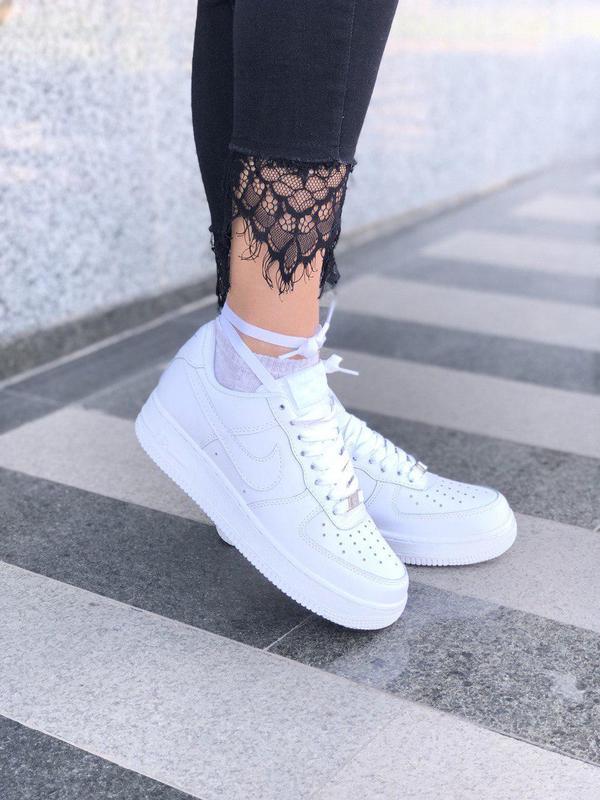 Шикарные женские кроссовки nike air force 1 low white 😍 (весна... - Фото 3