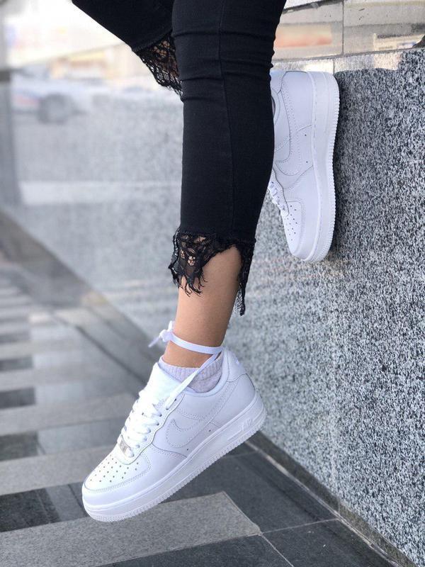 Шикарные женские кроссовки nike air force 1 low white 😍 (весна... - Фото 6