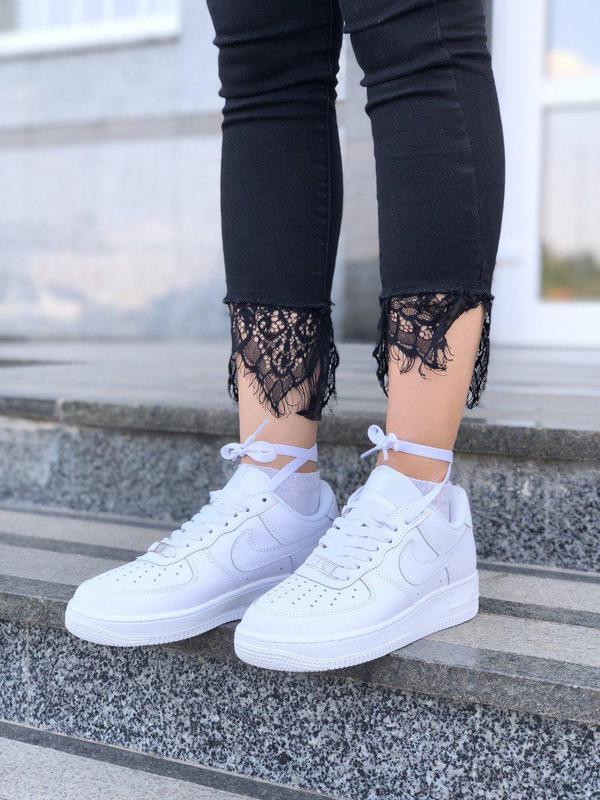 Шикарные женские кроссовки nike air force 1 low white 😍 (весна... - Фото 7