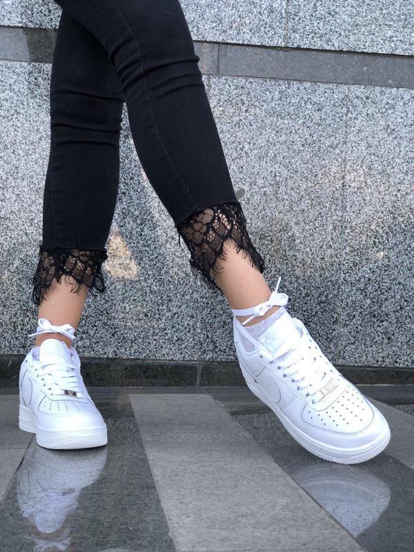 Шикарные женские кроссовки nike air force 1 low white 😍 (весна... - Фото 8