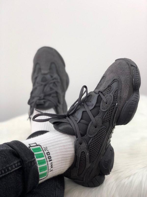 Шикарные кроссовки adidas yeezy 500  utility black 😍 (мужские/... - Фото 2