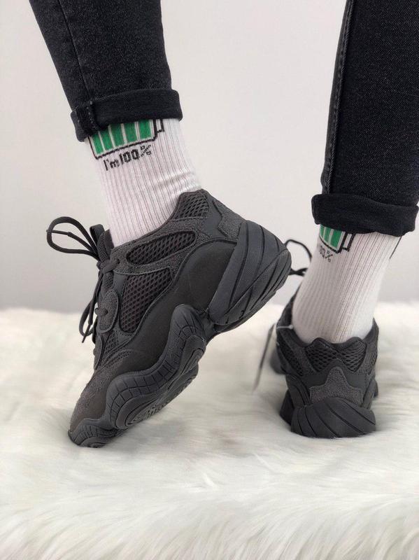 Шикарные кроссовки adidas yeezy 500  utility black 😍 (мужские/... - Фото 3