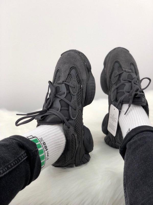 Шикарные кроссовки adidas yeezy 500  utility black 😍 (мужские/... - Фото 5