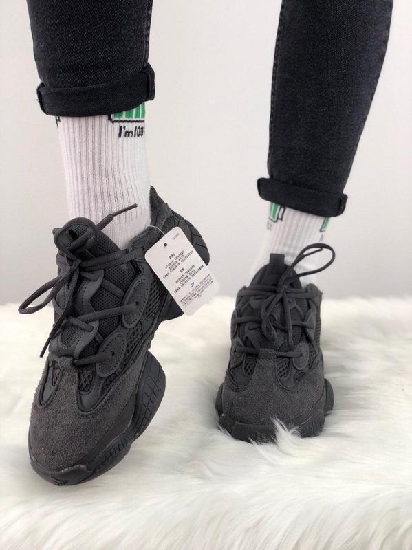 Шикарные кроссовки adidas yeezy 500  utility black 😍 (мужские/... - Фото 6