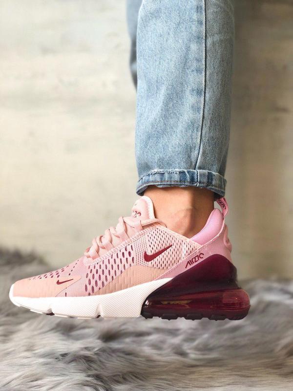 Шикарные женские кроссовки nike air max 270 pink  😍 (весна/ ле...