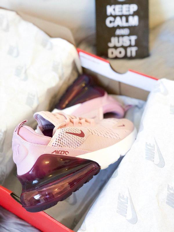 Шикарные женские кроссовки nike air max 270 pink  😍 (весна/ ле... - Фото 5