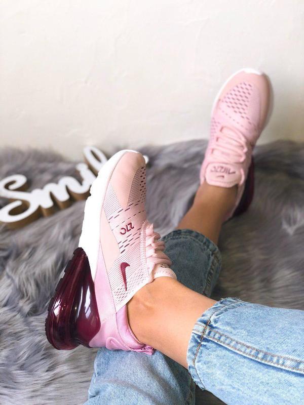 Шикарные женские кроссовки nike air max 270 pink  😍 (весна/ ле... - Фото 8