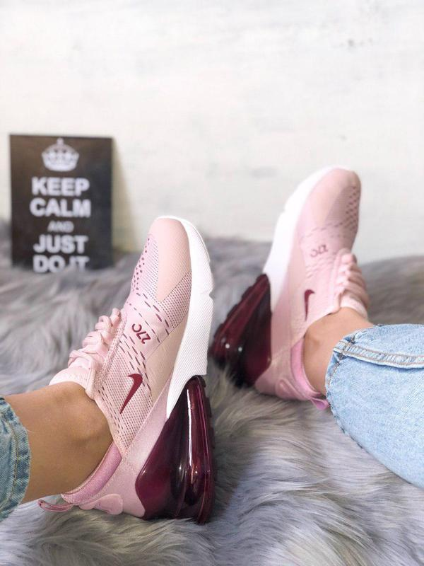 Шикарные женские кроссовки nike air max 270 pink  😍 (весна/ ле... - Фото 9